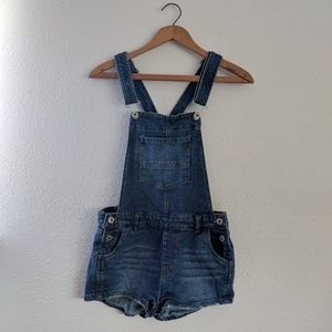 Lovetree Denim Shorts Overalls - Size S